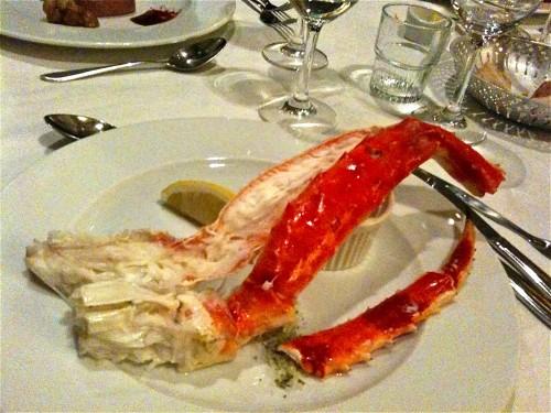 King crab bij Restaurant Hotel de Goudfazant