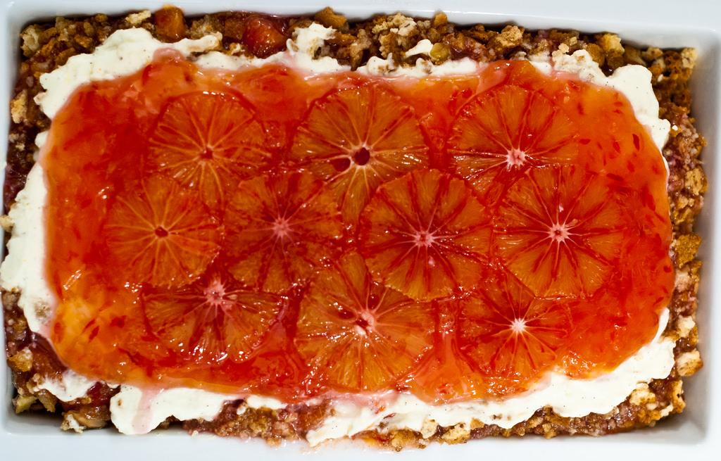 Wat aten zij? Trifle van bloedsinaasappel, mascarpone en bitterkoekjes