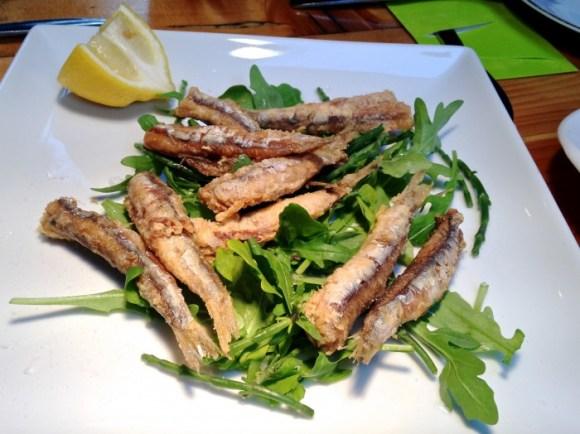 Gefrituurde ansjovis bij Marres Kitchen in Maastricht