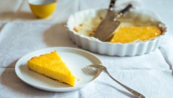 Amandel-ricotta-polenta cake