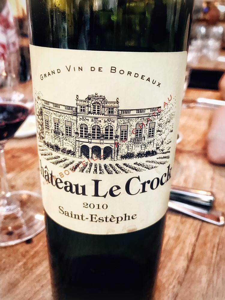 Café Caron: Chateau Le Crock 2010 uit het rode boekje