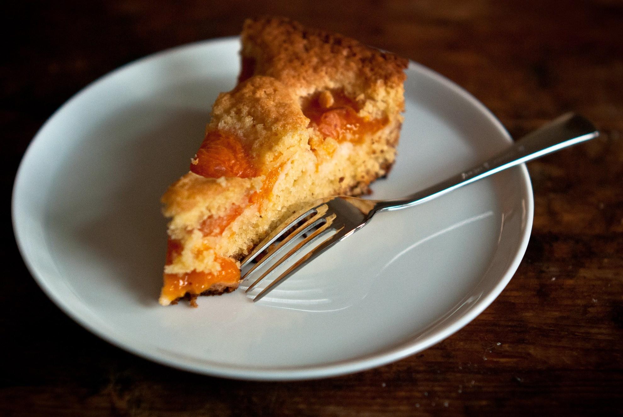 Abrikozen amandel taart