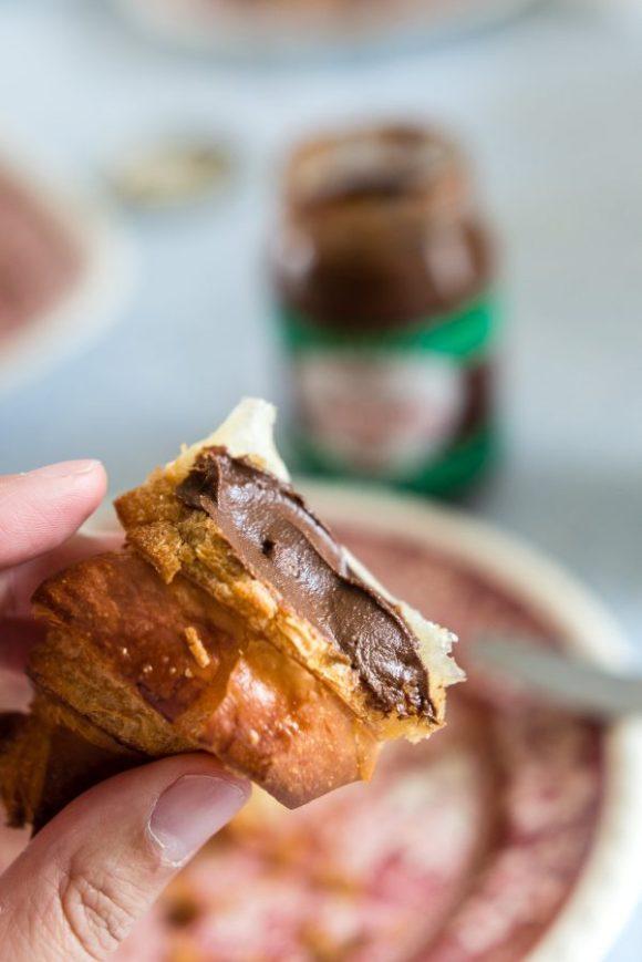 Wat aten zij - Croissants met échte pasta di nocciole.jpg
