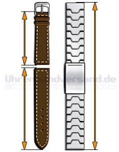 In order for your watch band to sit correctly you need buy one that   the right length do please measure of last also watchbandcenter help with sizes straps bands rh center