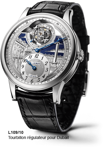 LEROY L109/10 Tourbillon regulator for Dubail