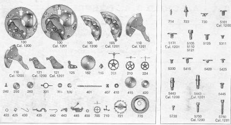 AS 1200 watch parts