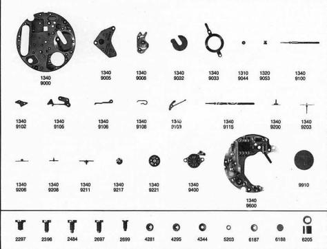 Omega 1343 watch parts