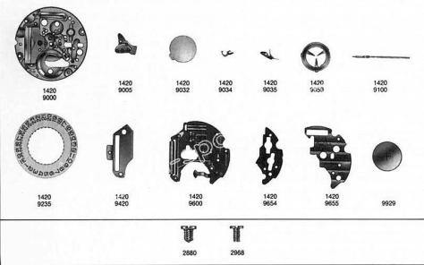 Omega 1420 watch date parts