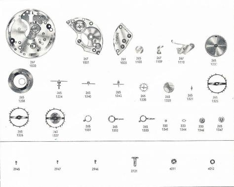 Omega 267 watch part