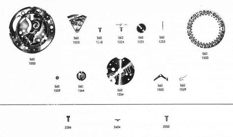 Omega 560 watch date parts
