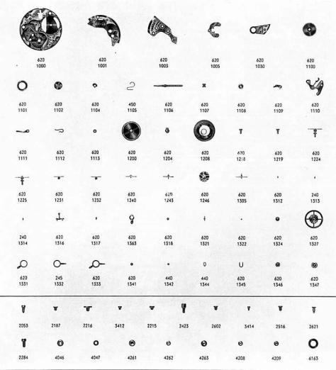Omega 630 watch parts