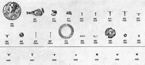 Omega 681 watch date parts
