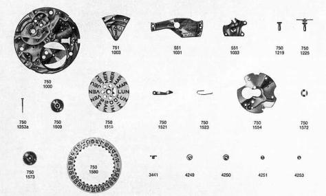 Omega 752 watch date parts