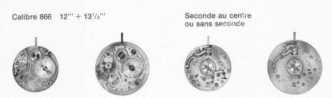 Baumgartner BFG 866 watch movements
