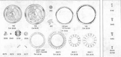 ETA 2639 watch date spare parts