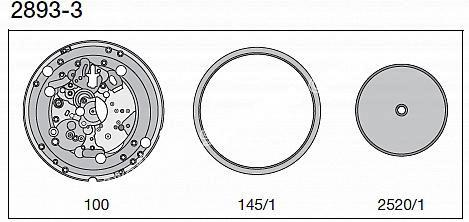 ETA 2893.3 watch date spare part