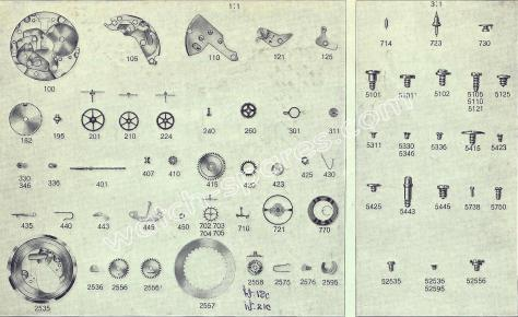 FHF Font 76.2 watch spare parts