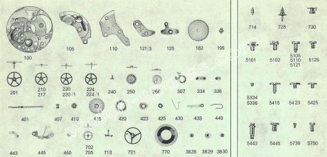 FHF Font 82 watch spare parts