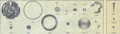 FHF Font 908 watch date spare parts