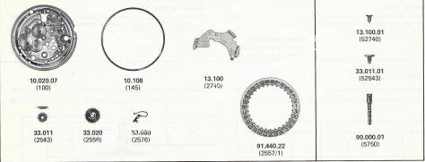 FHF ST 969.4 N watch date spare parts