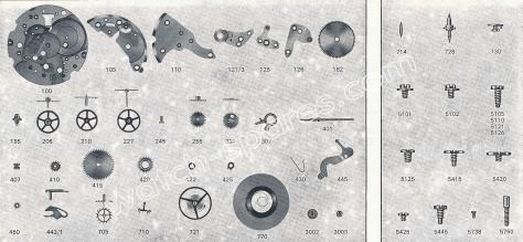 FHF ST 97 watch spare parts