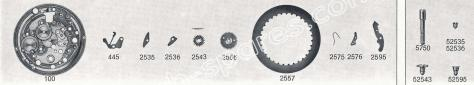 Standard ST 969.4 watch date spare parts