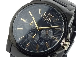 Armani Watches for Men - Top 3 Black Dial Ion-plated AX Armani Mens Watches