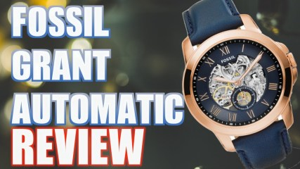 GRANT AUTOMATIC NAVY LEATHER WATCH REVIEW - Men's Watches