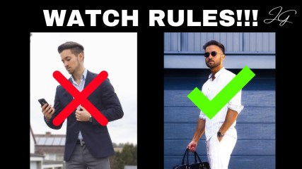 3 Watch Rules ALL MEN Should Follow! STOP WEARING YOUR WATCHES WRONG! How to wear a watch!