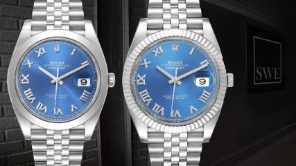Rolex Datejust 41 Steel White Gold Blue Dial Watches 126300 and 126334 | SwissWatchExpo
