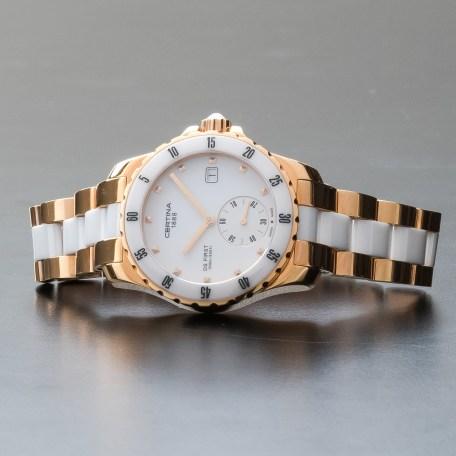 Certina DS First Lady Ceramic Stainless Steel Quartz Watch C0142353301100
