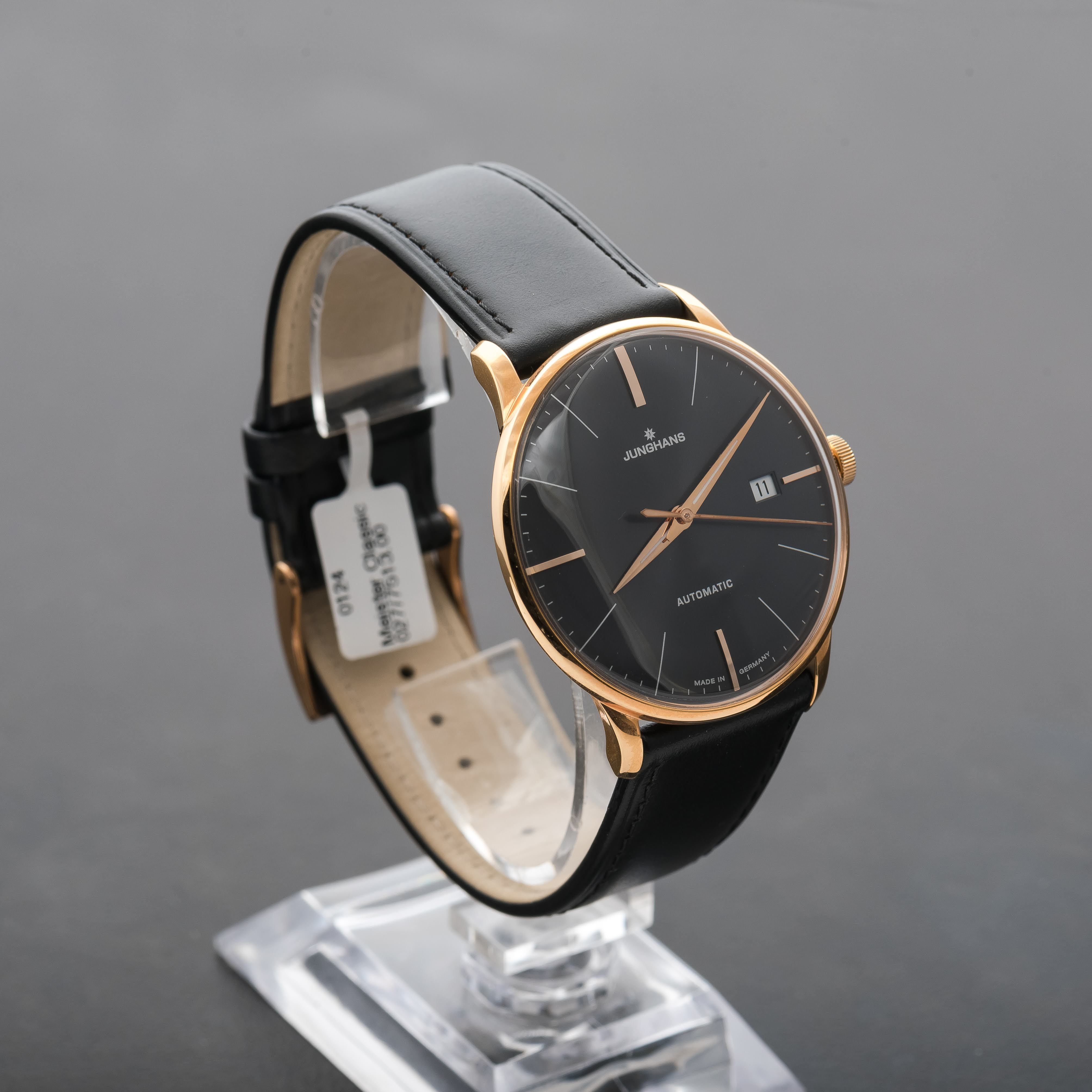 Junghans Meister classic Automatic Black Dial Gold PVD Coating Date 027/7513.00