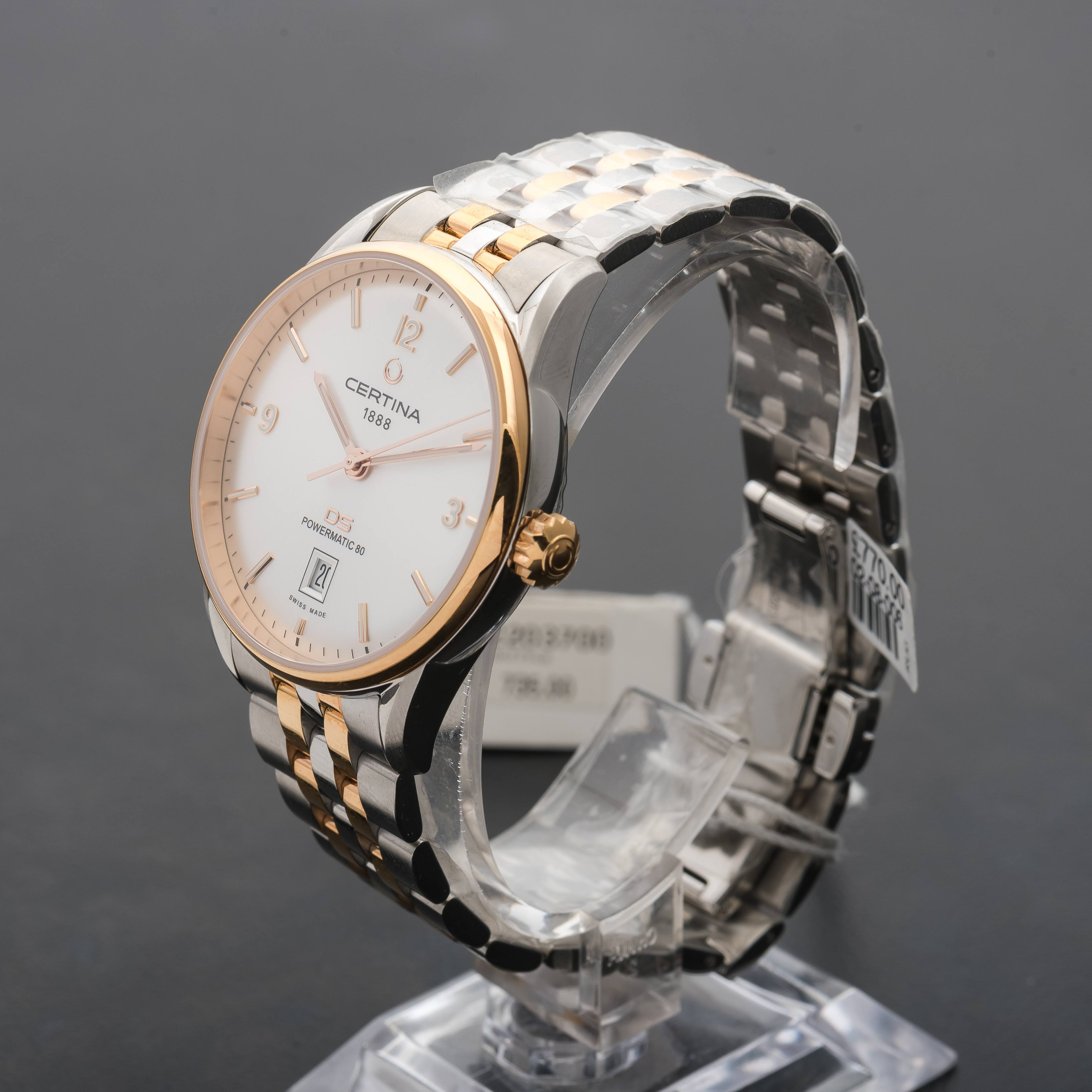 Certina DS Powermatic 80 Automatic Date Two tone Steel Gold Plate C0264072203700