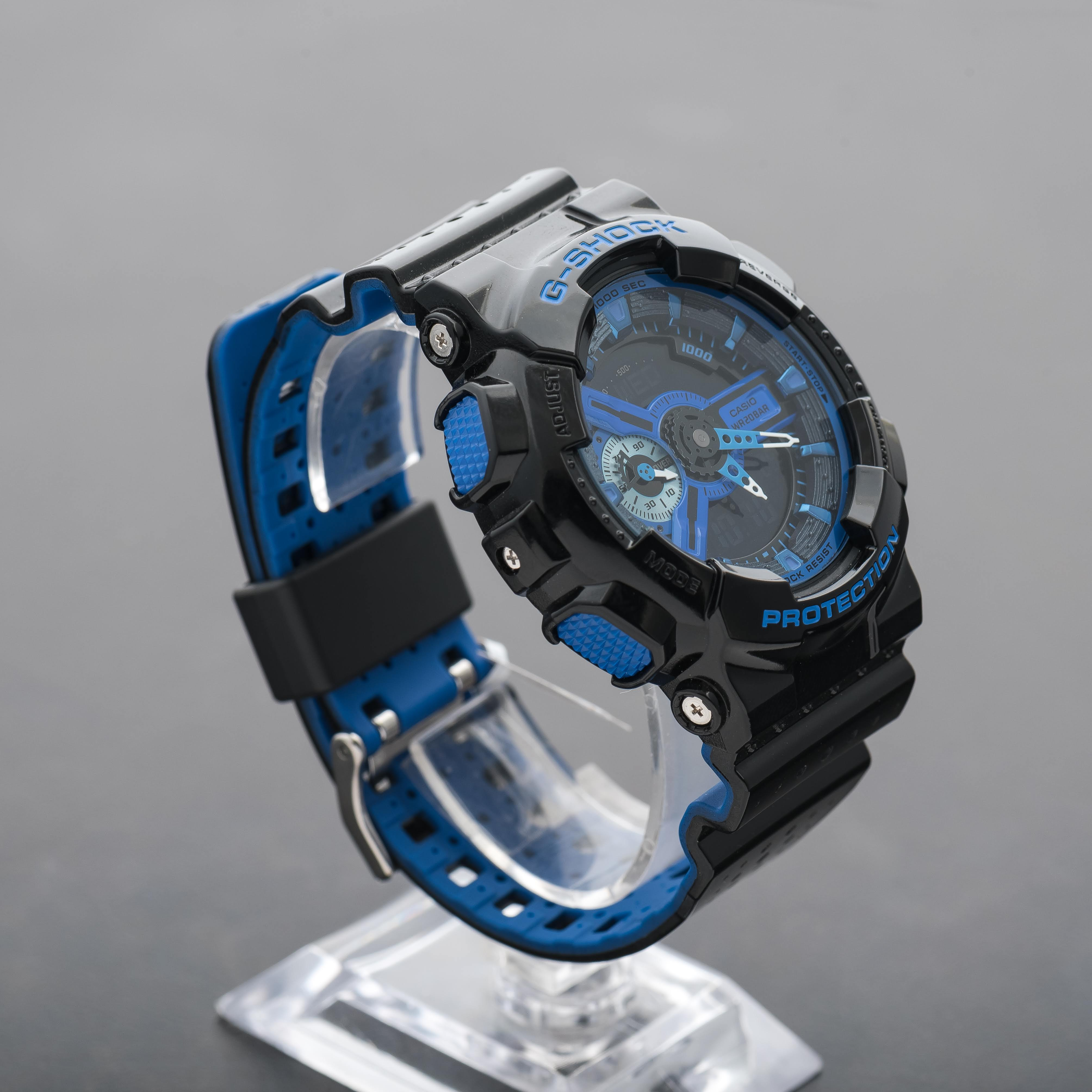 Casio G-Shock Men's Black Blue World Time Alarm Watch GA-110LP-1AER