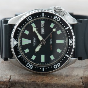 Seiko 6309-7290 Divers Watch Men Vintage 150M Automatic Stainless Steel #1294