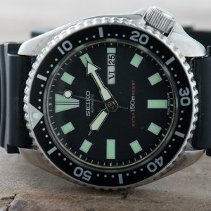 Seiko 6309-7290 Divers Watch Men Vintage 150M Automatic Stainless Steel #3561