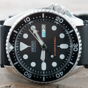 Seiko SKX007 Divers Watch Men Vintage Automatic Day Date ref. 7S26-0020