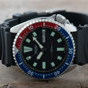 Seiko 6309-729A Pepsi Divers Watch Men Vintage Day Date 150M Automatic S/S #1281