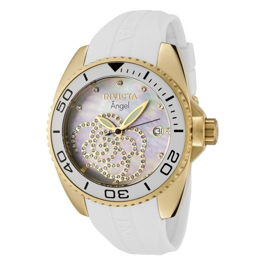 The Delicate Rose-Patterned with Zirconia Adornments – Invicta Rose Angel Quartz Watch | Watch Review