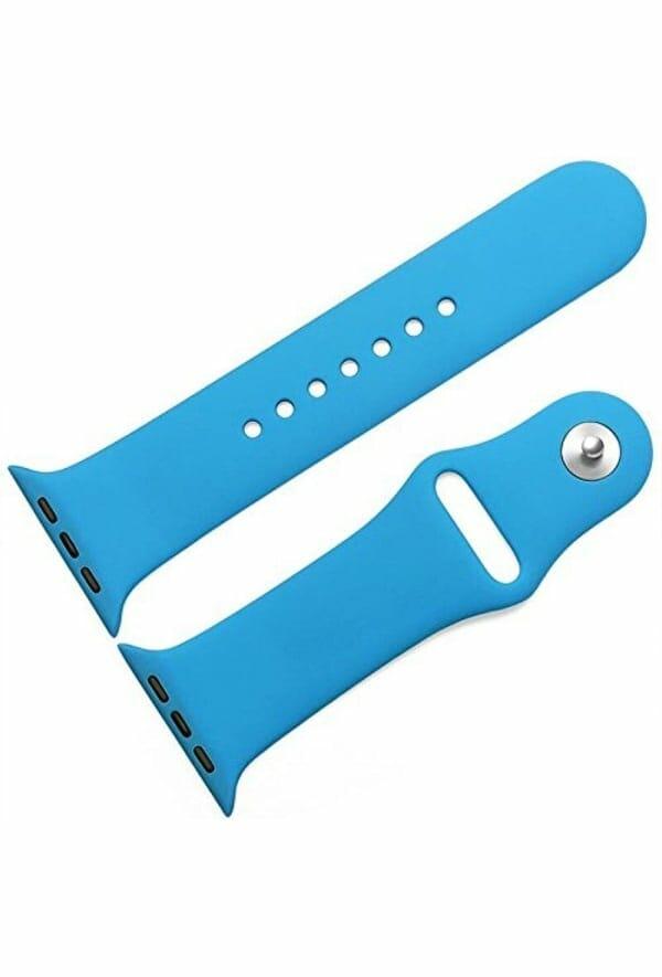 Apple watch bandjes - Apple watch rubberen sport bandje - blauw -010
