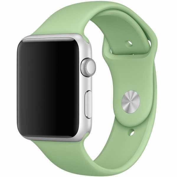 Apple watch bandjes - Apple watch rubberen sport bandje - mint-000
