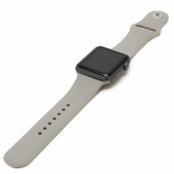 Apple watch bandjes - Apple watch rubberen sport bandje - stone-003