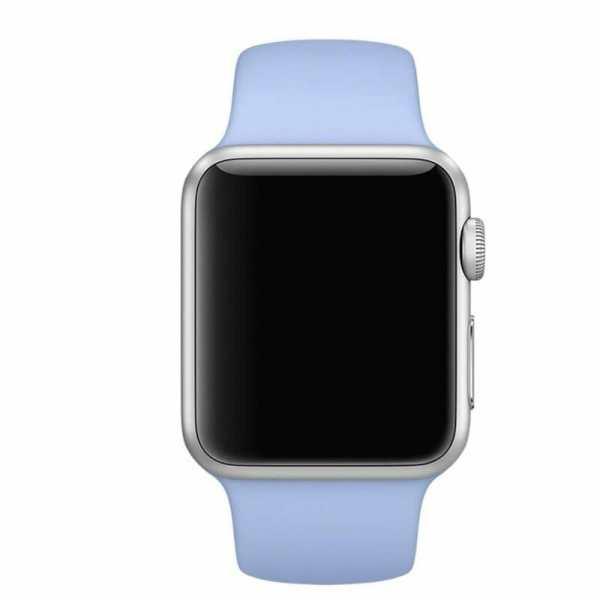 Third party Apple watch bands rubberen sport bandje Lila-003