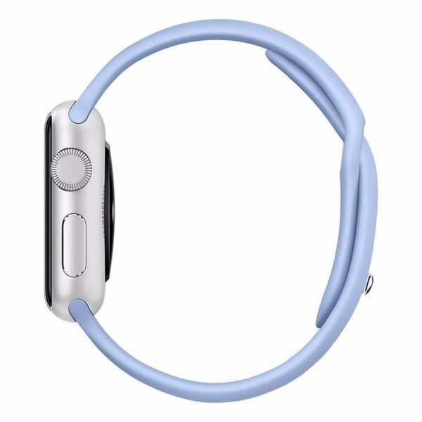 Third party Apple watch bands rubberen sport bandje Lila-004