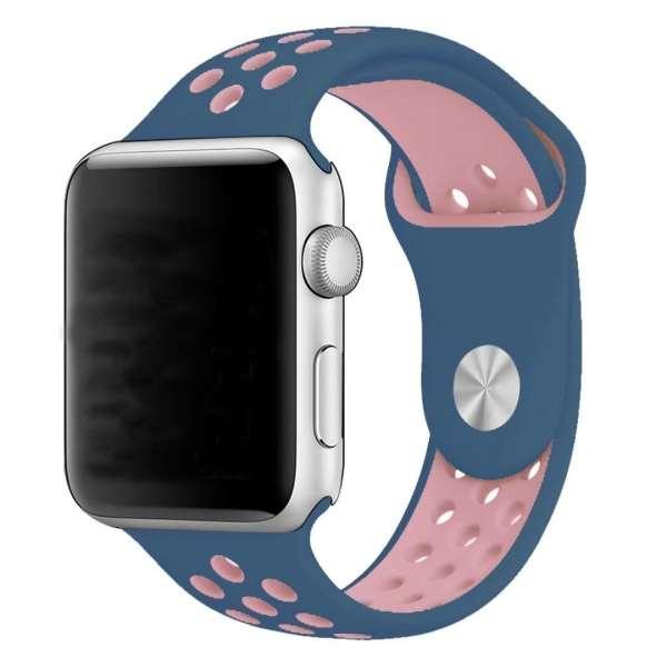 sport bandje voor de Apple Watch-Midden blauw-Rose-008