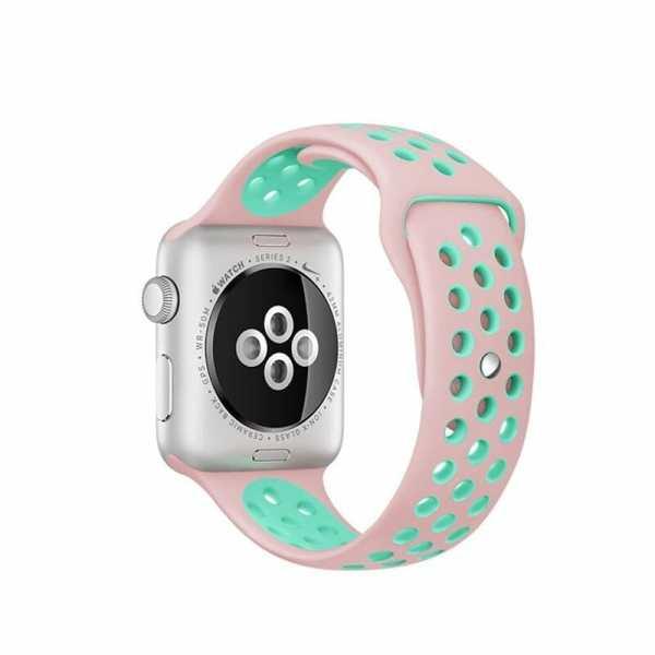 sport bandje voor de Apple Watch-Rose Aqua-004