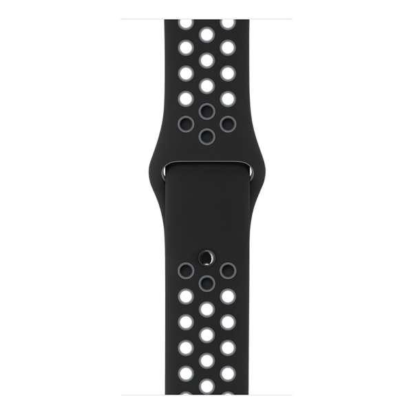 sport bandje voor de Apple Watch-Zwart-Grijs-008