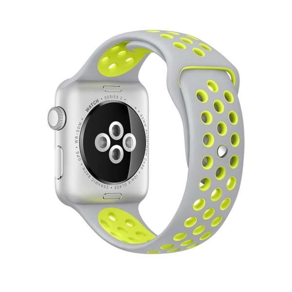 sport bandje voor de Apple Watch-grijs-geel-007