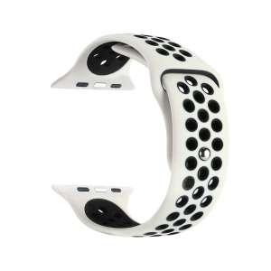sport bandje voor de Apple Watch-wit-zwart-002