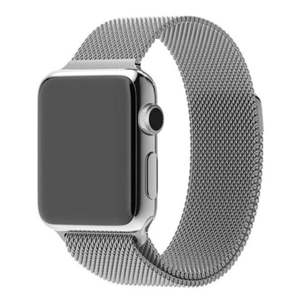 Milanese Loop rvs zilver bandje voor de Apple Watch 42mm